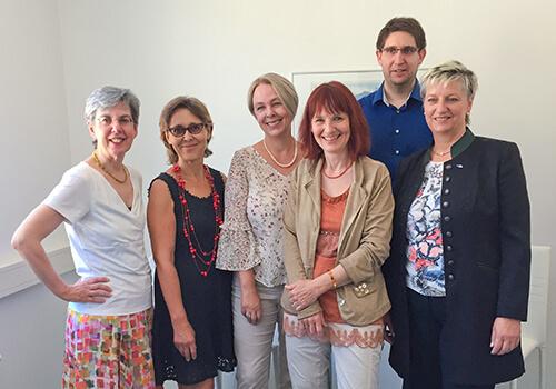 Dr.in Gabi Dallinger-König, AMS Tirol; Mag.a Ingrid Erlacher, Vorstand V_ega; Mag.a Sabine Platzer-Werlberger, AMS Tirol; Dr.in Itta Tenschert, FBZ Osttirol; Alfred Lercher, AMS Tirol; Doris Batkowski, AMS Lienz